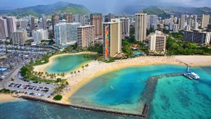 helicopter tour over Honolulu
