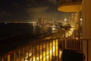Aston Waikiki Beach Hotel at Night
