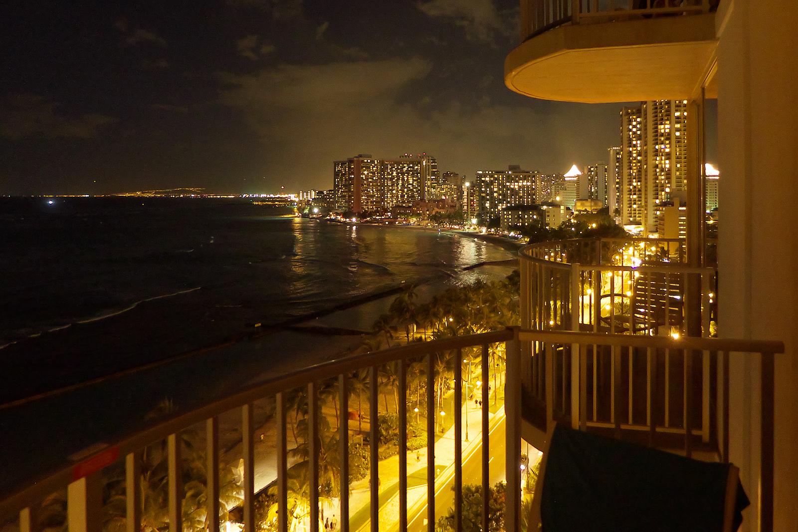 Aston Waikiki Beach Hotel at Night