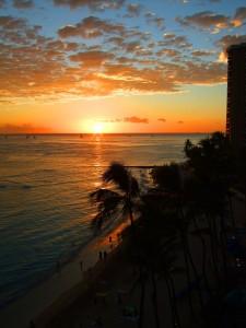 Outstanding Sunsets - Waikiki Beach- Hawaii